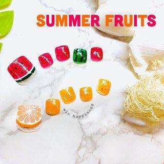 #夏 #夏ネイル #フット #Happiness Win #ネイルブック