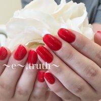 レッドネイル💄👠❤️ #nail studio -e-truth- #ネイルブック