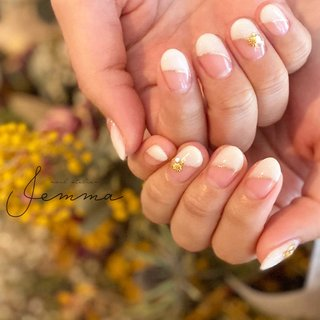 . -art1-3 - . . . ーーーーー #nailatelierjemma #jemma #nail #nails #wedding #bridalnails  #ジェマ #大阪 #堀江 #堀江ネイルサロン #堀江プライベートサロン #ニュアンスネイル #大人ニュアンス #ターコイズネイル #白フレンチ #ホワイト #フレンチネイル #ブライダル #ブライダルネイル #透明感 #透け感 #クリアネイル #トレンドネイル #ネイルサロン開業 #美甲 #뷰티스타그램 #네일 #네일스타그램 #オールシーズン #オフィス #ブライダル #ハンド #シンプル #フレンチ #変形フレンチ #ショート #ホワイト #ゴールド #ジェル #お客様 #satomi #ネイルブック