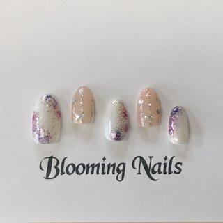 #bloomingnails #牛久市ネイルサロン #牛久市ネイルスクール #カルジェル #ジェルネイル #梅雨 #キャンペーンネイル #あじさい #雨 #入学式 #梅雨 #ハンド #ワンカラー #ホログラム #ラメ #ピンク #パープル #ジェル #ネイルチップ #Blooming Nails #ネイルブック