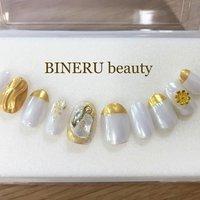 フルオーダーネイルチップ❤️ #フルオーダーネイルチップ #オーダーネイルチップ #ホワイトネイル #ゴールドネイル #ミラーネイル #BINERU beauty #静岡ネイルサロン #BINERU beauty #ネイルブック