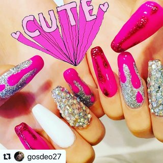 #Repost @gosdeo27 with @nailsgogo ・・・ #newnails#nails#pinknails#❤︎ #NAILSGOGO shibuya nailsalon #ネイルブック
