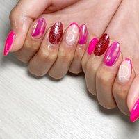 ナンバーネイル💅 シンプルアートコースで可能です(^^)  #nail#nails#定額ネイル #ナンバーネイル #ピンク #ミラーネイル #春 #夏 #バレンタイン #旅行 #ハンド #フレンチ #ラメ #ロング #ベージュ #ピンク #レッド #ジェル #お客様 #伊藤蘭 #ネイルブック