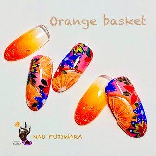 ミニカ・スルガ6月おすすめネイルアート 『Orange basket』 この季節にぴったり!ビタミンカラーを楽しんで。    #阿佐ヶ谷ネイルサロンミニカ・スルガ#ネイルサロンミニカスルガ #ミニカ・スルガ#田邉薫 #藤原奈緒#ジュエリージェルグランデ #ジュエリージェルエデュケーター#ネイルアート#オレンジカラー#オレンジネイル#ネイルブック #春 #夏 #ハンド #トロピカル #フルーツ #ミディアム #ピンク #ビビッド #ジェル #ネイルチップ #田邉薫(Kaori Tanabe) #ネイルブック