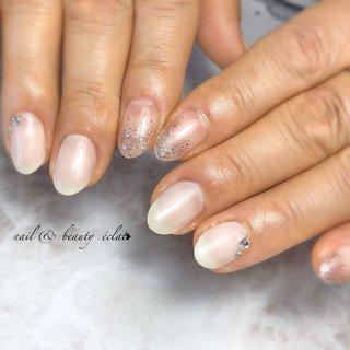 #ワンカラーネイル#ラメグラデーション #nail & beauty éclat❥ #ネイルブック