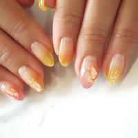 #グラデーション #シースルー #シェルネイル #リゾート #夏ネイル #ange nail salon #ネイルブック