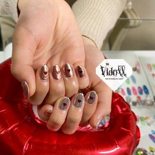 #ミラーネイル #ハンド #ホログラム #ミラー #ミディアム #ピンク #シルバー #ジェル #お客様 #vidoll1101 #ネイルブック