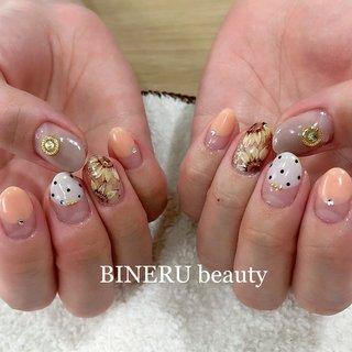 夏ネイル🌻ひまわりネイル🌻 #夏ネイル #ひまわりネイル #オレンジネイル #BINERU beauty #静岡ネイルサロン #BINERU beauty #ネイルブック