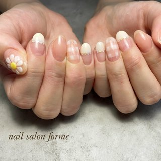 #可愛い#お花#フレンチ #Nailsalon- forme #ネイルブック