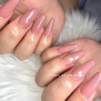 #春 #夏 #秋 #冬 #シンプル #ラメ #ワンカラー #ピンク #グレージュ #スモーキー #Nail Salon.MARIA #ネイルブック