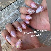 #夏 #旅行 #海 #リゾート #ハンド #グラデーション #シェル #大理石 #ミラー #ホワイト #ピンク #パープル #Private nail salon Dia nail #ネイルブック