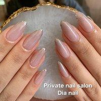 #春 #夏 #秋 #オフィス #ハンド #グラデーション #グレージュ #Private nail salon Dia nail #ネイルブック