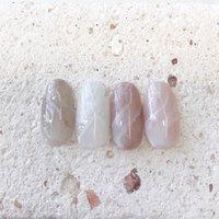 #夏ネイル#天然石ネイル#ニュアンスネイル #nail salon PROTEA #ネイルブック
