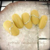#ネイルチップ #サンプル #yellow #nail #naildesign #nailsalon #プライベートネイルサロン #プライベートネイルサロンsol #越谷 #オールシーズン #ハンド #ワンカラー #マット #ミディアム #イエロー #シルバー #ジェル #ネイルチップ #sol...hiromi #ネイルブック