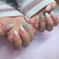 ホワイトラメ♡ #hope_star_nail #ネイルブック