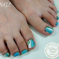 本日のお客様ネイル♡5/30 4色のブルーでプッチ柄風アート♡ #gelnail #nail #nails #naildesign #nailart #nailartist #nailbook #footnails #pedicures #pedi #フットネイル #ペディキュア #PUCCInail #bluenails #ブルーネイル #プッチ柄ネイル #プッチネイル #格安ネイル #ジェル #ジェルネイル #美甲 #niika_nail #板橋区中台 #志村三丁目 #ツヤツヤ #キラキラ #可愛い #シンプル #夏 #海 #リゾート #女子会 #フット #シンプル #ラメ #ショート #ホワイト #ターコイズ #水色 #ジェル #お客様 #Sa7e_Kurihara #ネイルブック