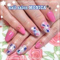 シェルがかわいいネイル😻 #シェル #春 #夏 #シェル #ピンク #カラフル #nail salon MONICA 🐾 #ネイルブック