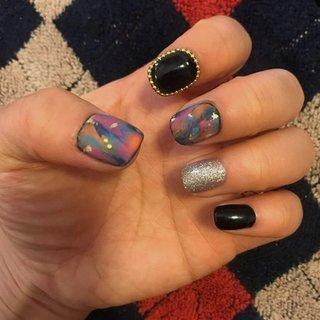 #naildesigns #blacknails #chloe #ネイルブック