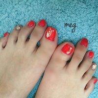 . #お客様ネイル #やっぱり赤が好き #シンプルネイル #フットジェル . . 毎月フットネイルをやりに来てくれる 小、中学の同級生♪ やっぱり赤が好き♡  今日は#ちゅるんレッド ♡ 赤とラメを選んで 親指パーツはお任せ👍👍 いつもありがとう! . . #シンプルネイル#シェルネイル#レディネイル#レッドネイル#ニュアンスネイル#simplenail#gelnail#footnail#フットジェル#ネイル#rednail#夏ネイル#浜松#シロップカラーシリーズ#agehanail#agehagel#やっぱり赤#nail#浜松市ネイルサロン#ネイルサロン浜松#浜松市南区#instanail#nailistgram#浜松市#三島町#個室サロン#Nailsalonmeg. #夏 #海 #リゾート #デート #フット #シンプル #ラメ #ワンカラー #シェル #ニュアンス #ピンク #レッド #ゴールド #ジェル #お客様 #meguppe #ネイルブック