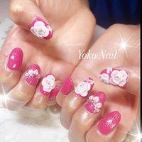 いつもありがとうございます♥️ M様のネイルです(*^▽^*) 今回はサンプルの薔薇の🌹ネイル、カラーを濃いめのピンクで💗きゃわゆいん💕💕💕 #yoko nail #佐倉市ヨウコネイル #ユーカリが丘ヨウコネイル #お客様のキラキラ輝く笑顔の為に💗 #ネイルサロン衛生管理士 #ブルー&ピンク #春 #ブライダル #パーティー #フラワー #3D #ピンク #Yoko Nail #ネイルブック