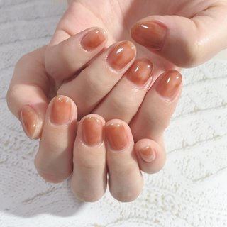 #ニュアンスネイル #ジェルネイルデザイン#ムラ塗り #eclat nail design #ネイルブック