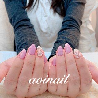 #nail #nailart #ネイル #ネイルアート #ネイルデザイン #ネイルサンプル #ネイリスト #photo #flower #3D #pink #お花 #cute #fashion #beauty #ネイル好き #美甲 #ブライダル #bridal #ブライダルネイル #ウエディング #love #happy #japan #tokyo #恵比寿 #代官山 #sunday #from_aoi_nail #ネイルブック