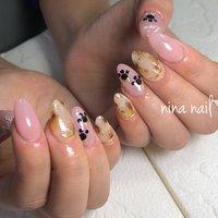 #nail #スカルプ #アクリル #ジェル #ピンク #dog#ネイルデザイン #ネイルアート #デート #かわいいネイル #手描きアート #アニマルネイル #NINAnail ニナネイル #ネイルブック
