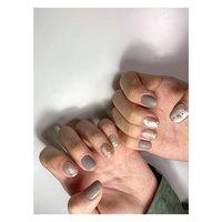 silver × matte by nailist @by_yumi ⠀ | F+ design₊ ⠀ nail art labo PHOTON base in omotesando tokyo japan #秋 #冬 #オールシーズン #ハンド #ワンカラー #ニュアンス #マット #ワイヤー #グレー #ジェル #お客様 #Yumi #ネイルブック