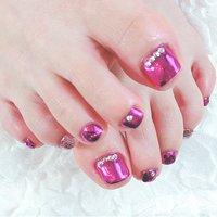 ピンクミラー☆ #ピンクミラー #爪~SOSHINE~【ツメ ソウシャイン】 #ネイルブック