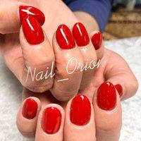 #赤ネイル #赤のワンカラー #ワンカラーネイル #オールシーズン #ハンド #シンプル #ワンカラー #ショート #レッド #ジェル #お客様 #Nail Orion #ネイルブック