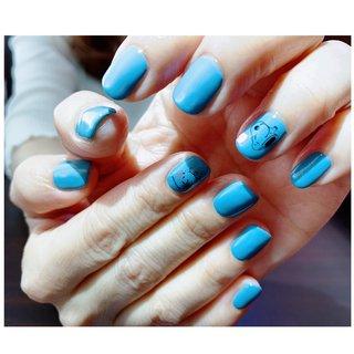 #夏 #ハンド #水色 #charme nail #ネイルブック