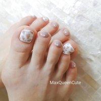 #春 #夏 #秋 #冬 #フット #MaxQueenCute #ネイルブック