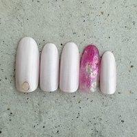 #ハンド #ホワイト #ピンク #kittystyle #ネイルブック