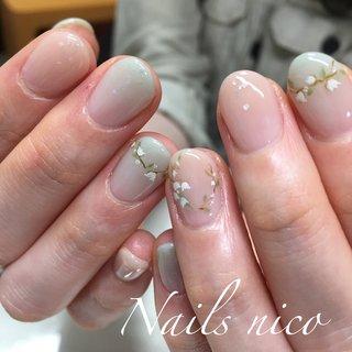 #すずらんネイル #ウェディングネイル #グリーン #水戸市ネイル&スクール Nails nico #ネイルブック