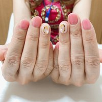 #オールシーズン #ハンド #パール #ホワイト #ピンク #ジェル #お客様 #A nail #ネイルブック