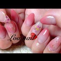 。 パールお花🌼 my nail 写真撮るの難しかったです。笑 #Loa Nail 【ロアネイル】 #ネイルブック