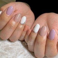 #オールシーズン #ハンド #シンプル #ワンカラー #ショート #healthy nails #ネイルブック
