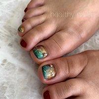#夏 #オールシーズン #フット #healthy nails #ネイルブック