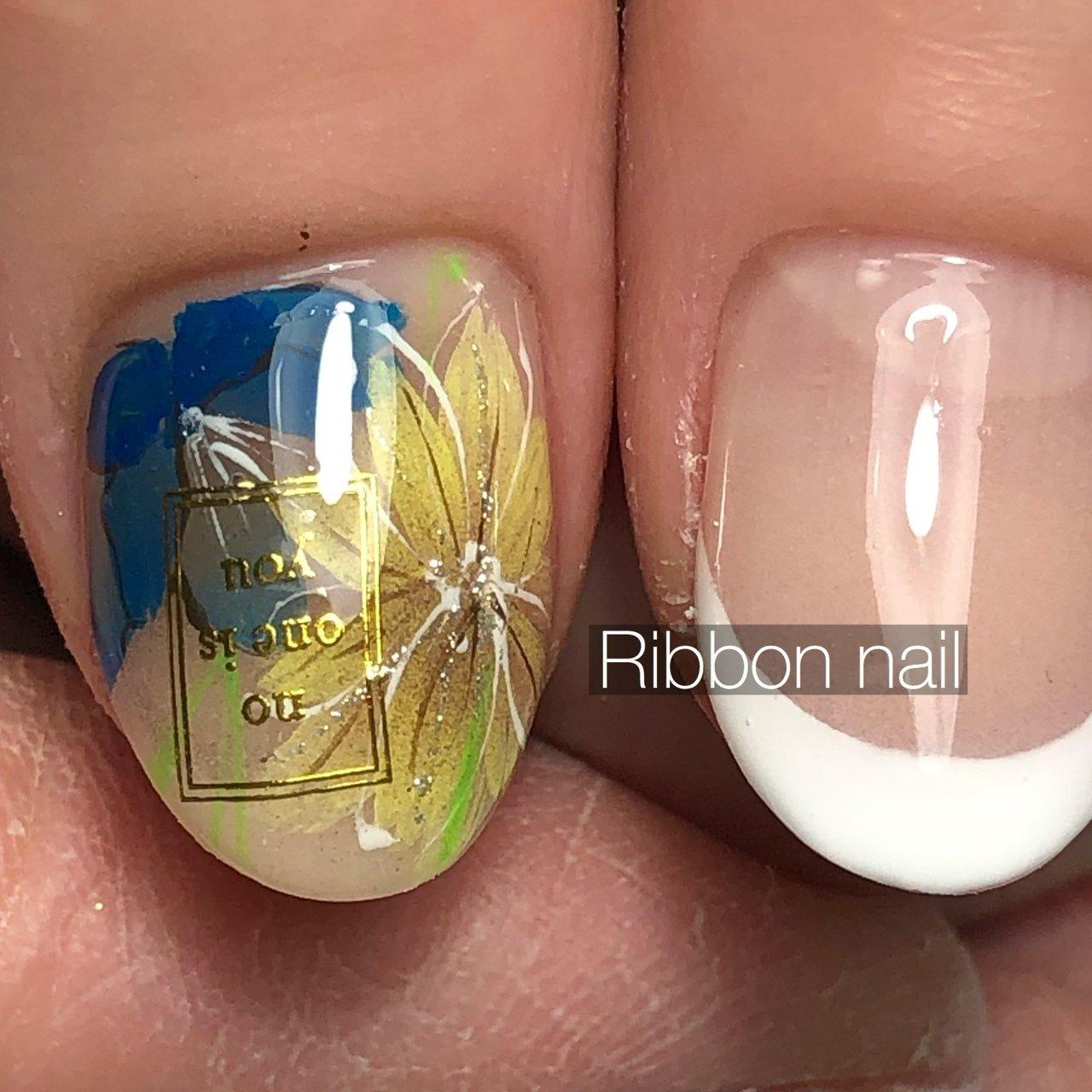#Ribbon_nail #ネイルブック