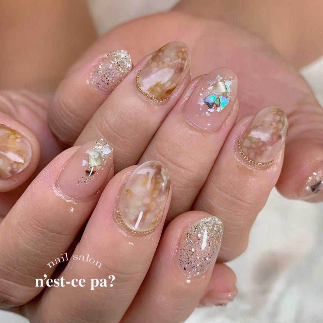 なんちゃってパイソン✨  ちょっとエスニックな感じも出てオシャレに仕上がりました😊  #nail #nails #naildesign #nailsalon #jelnail #japan #instanail #fashion #nailart #summernails #springnails #ネイル #ネイリスト #ネイルデザイン #ネイルサロン #ジェルネイル #夏ネイル #春ネイル #ネセパネイル #さいたま市ネイルサロン #東浦和ネイルサロン #さいたま市ネイルスクール #東浦和ネイルスクール #夏 #オールシーズン #ラメ #シェル #ベージュ #ブラウン #グレージュ #ジェル #お客様 #ネセパネイル salon&school #ネイルブック