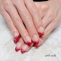#ハンド #フレンチ #レッド #ジェル #お客様 #petit_nails -プチネイルズ- #ネイルブック
