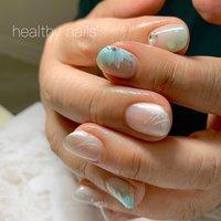 #夏 #浴衣 #ブライダル #パーティー #ハンド #healthy nails #ネイルブック