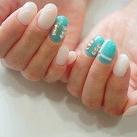 #ティファニーネイル#大人かわいい#ブランドネイル #ange nail salon #ネイルブック