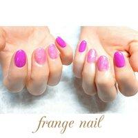 #ハンド #マーブル #ピンク #ジェル #お客様 #frange nail #ネイルブック