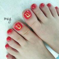 . #お客様ネイル #フットは赤が人気 #フットジェル . . 私のフットも今、このカラー♪ お揃いにしてくださいました♡ . 本当はもう少し オレンジっぽい赤なのですが 写真だとけっこう赤になってしまった💦 私もお気に入りのパーツをon. ありがとうございました♡ . . #赤#1カラーネイル#ジェルネイル#agehagel#agehanail#gelnail#gel#夏ネイル#初夏ネイル#シンプルネイル#footgel#フットネイル#浜松市南区#浜松市ネイル#浜松市南区ネイルサロン#三島町#nailistagram#instanail#浜松市ネイルサロン#浜松#Nailsalonmeg. #オールシーズン #パーティー #デート #女子会 #フット #シンプル #ワンカラー #レッド #ゴールド #ジェル #お客様 #meguppe #ネイルブック