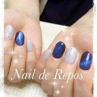 MAGパウダー˚✧₊⁎ 指を動かすたびに煌めきが七変化(๑˃̵ᴗ˂̵) #ハンド #Nail de Repos〜ルポ〜 #ネイルブック