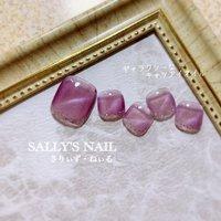シアーな紫色のキャツアイネイルは、ちょっとギャラクシーネイルぽくて、エッジが効いててカッコいいかも✨  #キャツアイ  #パープル  #ギャラクシー  #フットネイル  #大人女子ネイル  #カッコいいネイル  #パープル  #ラメライン  #岡崎市ネイルサロン #sally'snail  #サリーズネイル #さりぃずねぃる #さりぃず・ねぃる #夏 #オールシーズン #フット #シンプル #ラメ #パープル #シルバー #ジェル #ネイルチップ #リサ #ネイルブック