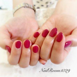#ピンク#ワンカラー#夏ネイル#ショートネイル #夏 #梅雨 #デート #女子会 #ハンド #シンプル #ワンカラー #ショート #ピンク #レッド #ジェル #お客様 ##NailRoom1029 #ネイルブック