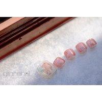 #偏光ミラー フットネイル #フットネイル #フットジェル #grace'nail factory #ネイルブック