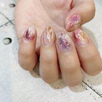 #ニュアンス #カラフル #nail coodination brooch #ネイルブック
